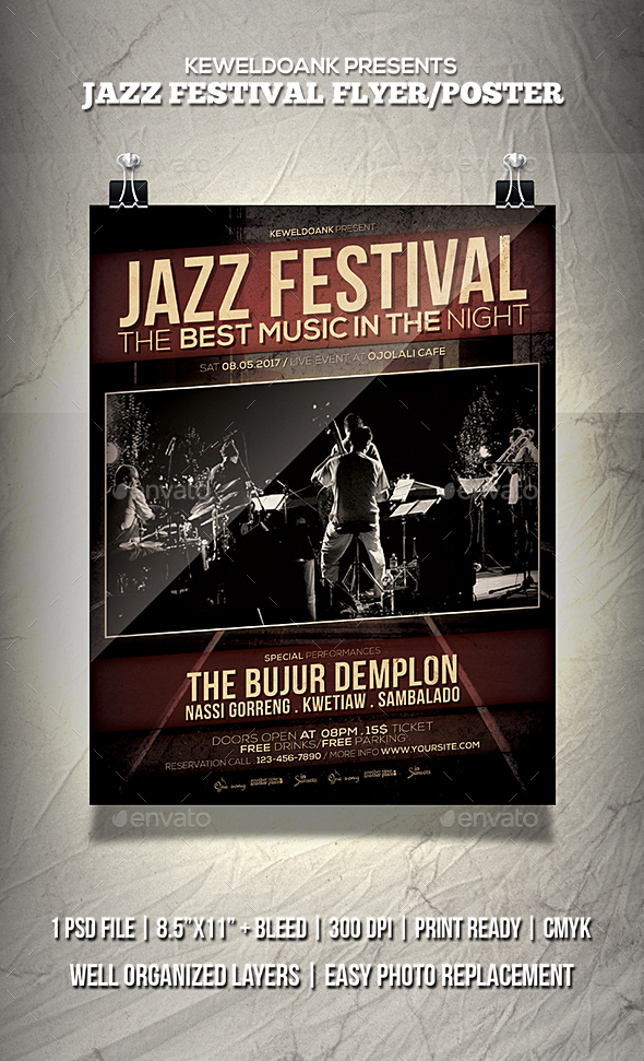 Jazz_Festival Flyer / Poster - Events Flyers