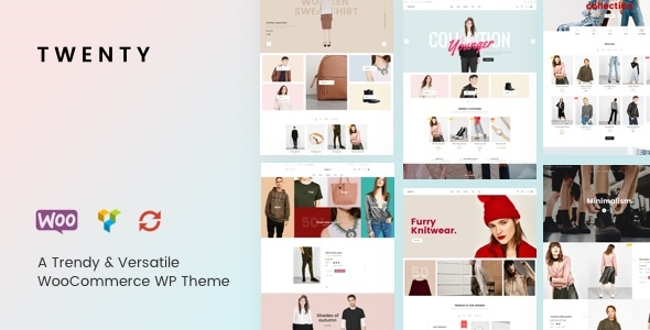 Twenty – A Trendy & Versatile WooCommerce WordPress theme