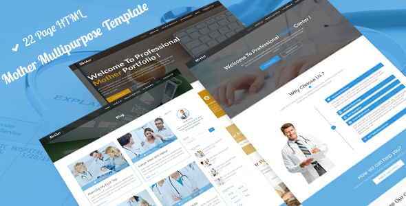 Mother MultiPurpose | Hospital,Construction,Portfolio,Dental & Medical Bootstrap Template