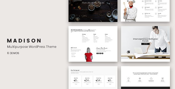 Madison - Multipurpose Responsive WordPress Theme