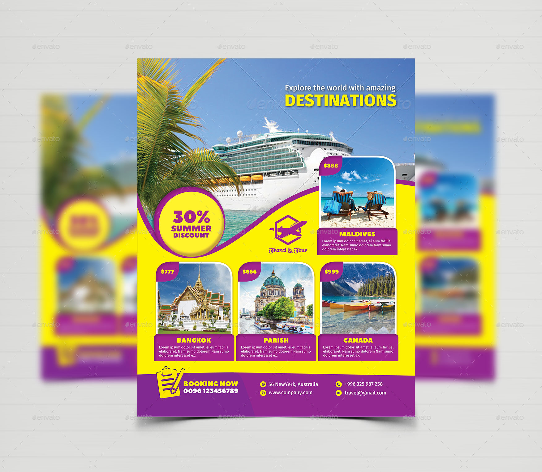 Travel Tour Flyer Templates By Creative Touch Graphicriver