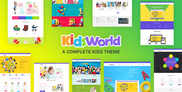 Kids World – Children, Kids WordPress Theme