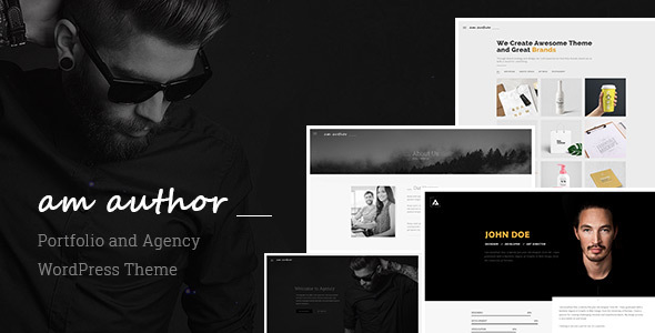 Am Author : Portfolio and Agency WordPress Theme