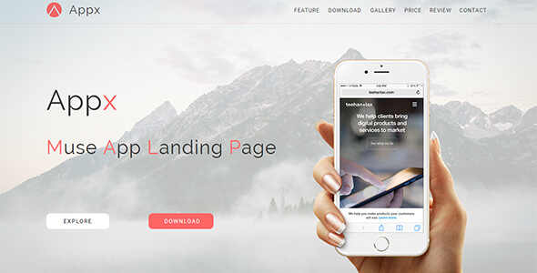 Appx_Muse App Landing Page