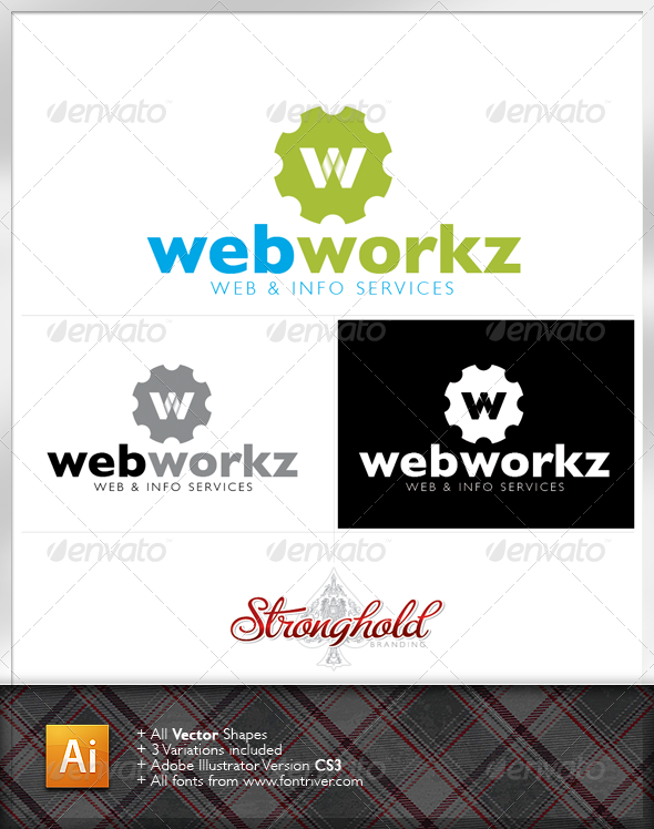 Web Works Logo Template - Letters Logo Templates