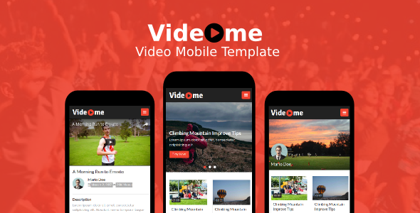 Videome – Video Mobile Template