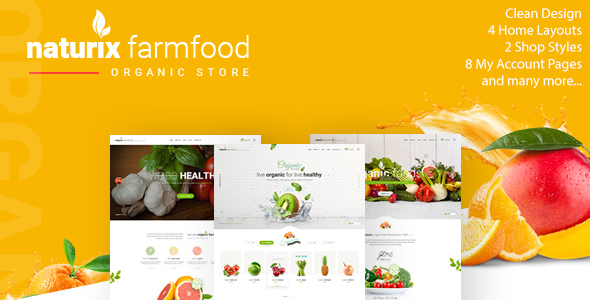 Naturix - Organic Fruit Vegetables Store HTML Template with RTL