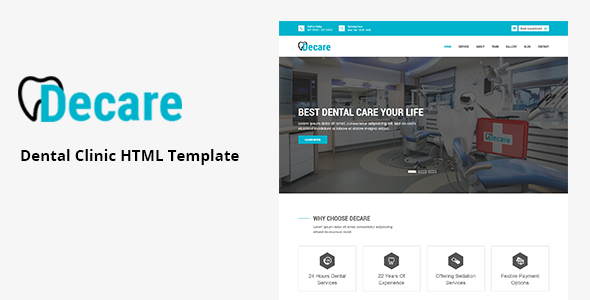 Decare – Dental Clinic HTML Template