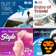 Travel - Vacation Web Ad Marketing Banners 02 - GraphicRiver Item for Sale