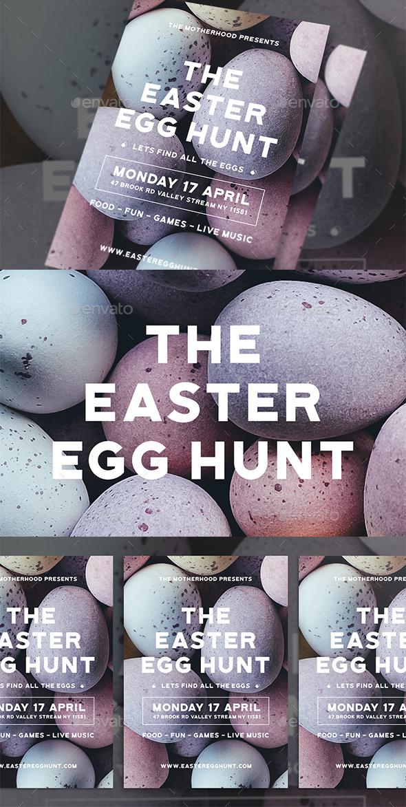Modern Easter Egg Hunt Flyer - Holidays Events