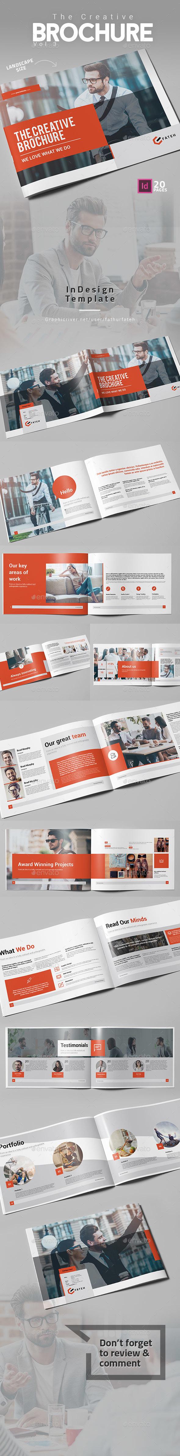 The Creative Brochure Vol.3 Landscape - Corporate Brochures