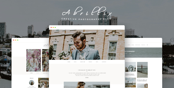 ABRILLIX - Creative Photography Blog Template