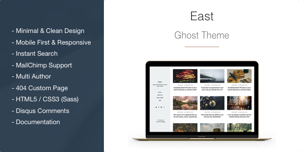 East - Blog and Multipurpose Clean Ghost Theme - Ghost Themes Blogging