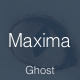 Maxima - Minimal Blog and Magazine Ghost Theme Nulled