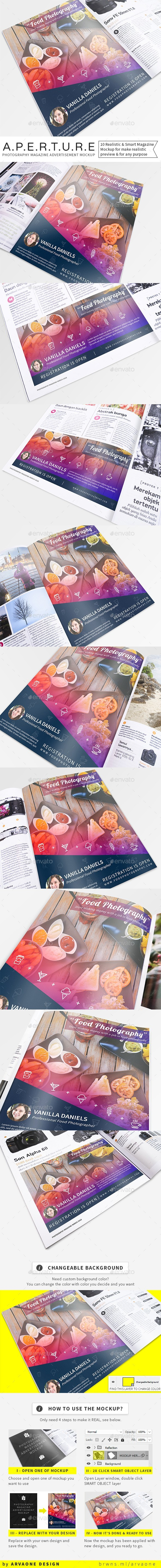 Aperture - Photography Magazine Advertisement Mockup - Magazines Print