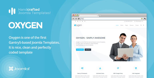 IT Oxygen - Gantry 5, Business & Portfolio Joomla Template