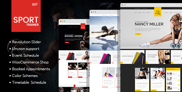 Sport Trainer – Boxing, Yoga and Crossfit Trainer WordPress Theme