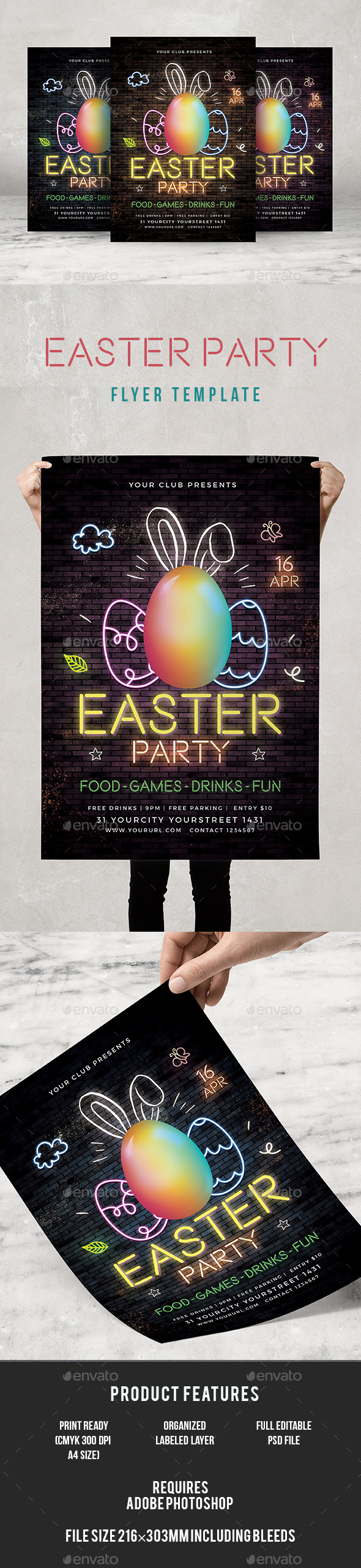Easter Party Flyer - Events Flyers