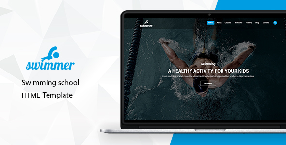 Swimmer - Swimming School HTML Template - Children Retail
