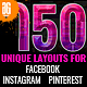 150 Facebook Instagram and Pinterest Banners - GraphicRiver Item for Sale