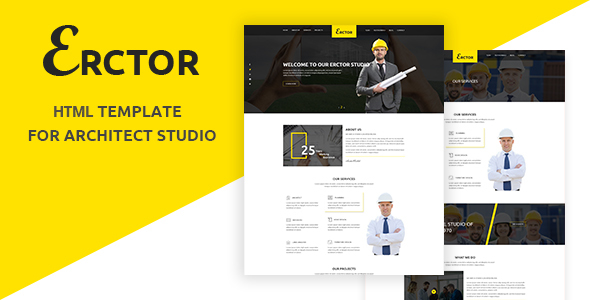 Erctor – Responsive Architecture / Architect Template
