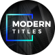 Modern Minimal Titles Pack - VideoHive Item for Sale