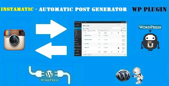 Instamatic Automatic Post Generator and Instagram Auto Poster Plugin for WordPress - CodeCanyon Item for Sale