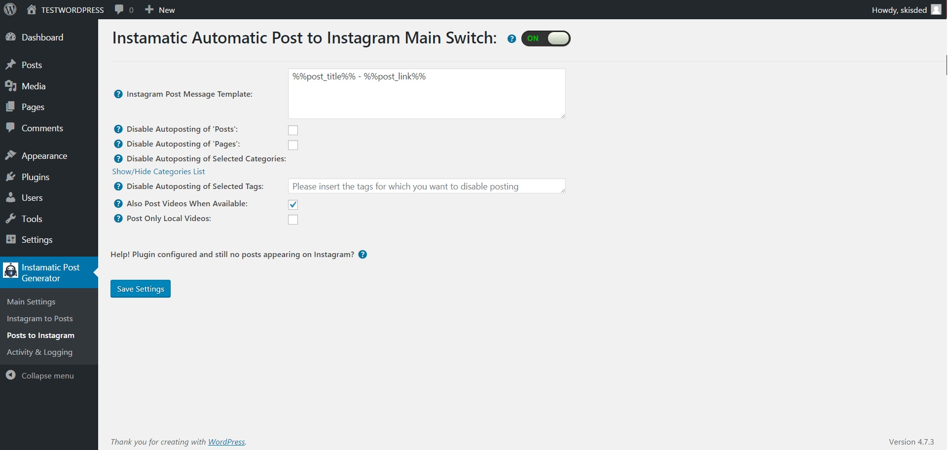 instagram auto post app