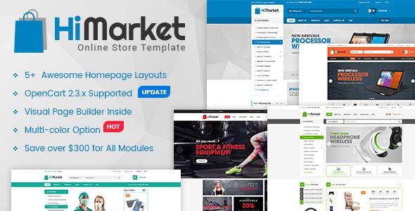 HiMarket – Multipurpose eCommerce OpenCart Theme