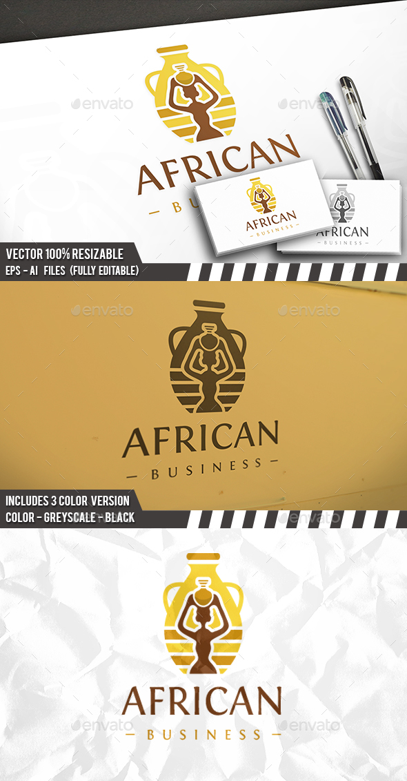 Ethnic Furniture Logo - Vector Abstract