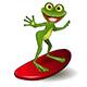 Frog Surfer - GraphicRiver Item for Sale