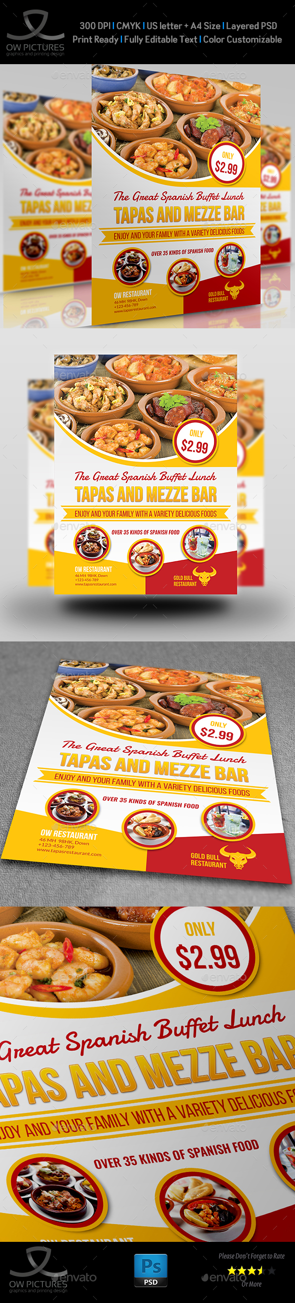 Restaurant Flyer Template Vol14 by OWPictures – Lunch Flyer Template