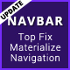 Navbar - Top Fixed Google Materialize Navigation - CodeCanyon Item for Sale