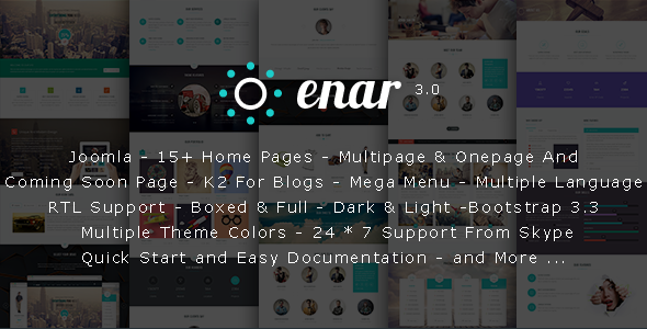 Enar - Responsive Multi-Purpose Joomla Template