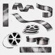 Realistic Photographic Strips and Film Reels