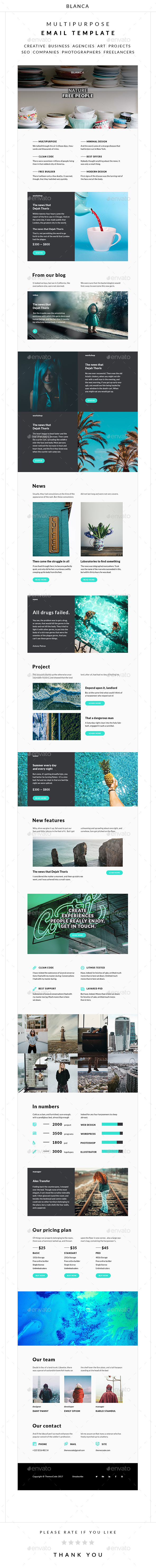 Blanсa – Multipurpose Email Template - E-newsletters Web Elements
