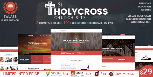 Church WordPress Theme | HolyCross Church