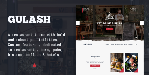 Gulash – delicious restaurant & coffee theme
