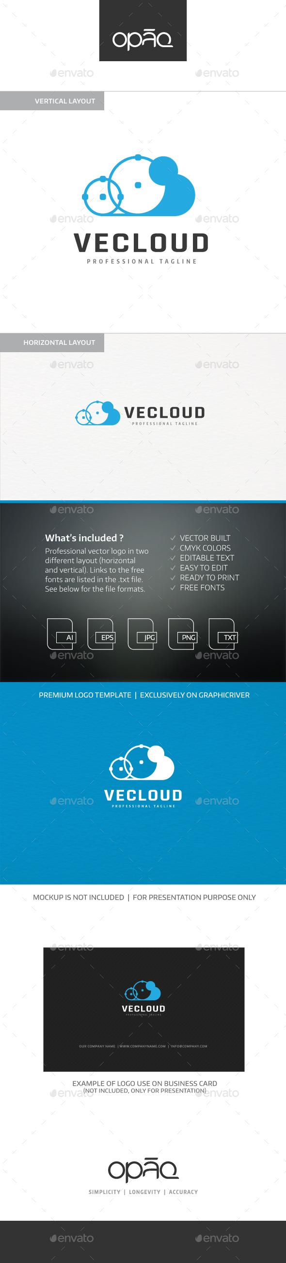 Vector Paths Cloud logo - Objects Logo Templates