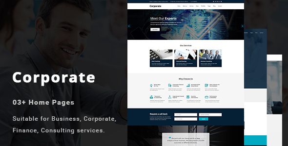 Corporate - Business and Professional Services PSD Template - Business Corporate