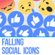 Facebook Like Reactions Falling - VideoHive Item for Sale