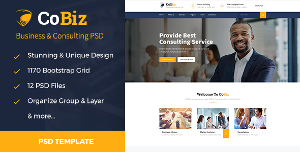 CoBiz – Business & Consulting PSD Template