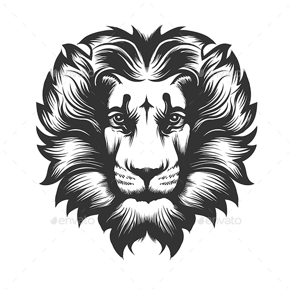 Lion Head - Tattoos Vectors