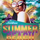 Summer Beach Flyer Template V1 - GraphicRiver Item for Sale