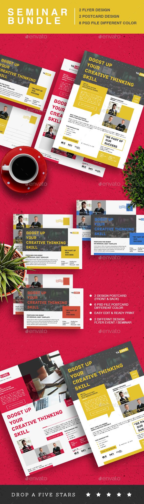 Seminar Event Flyer Bundle - Corporate Flyers