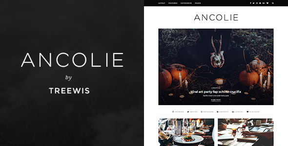 Ancolie – WordPress Blog Theme