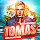 Summer DJ Flyer Template - GraphicRiver Item for Sale