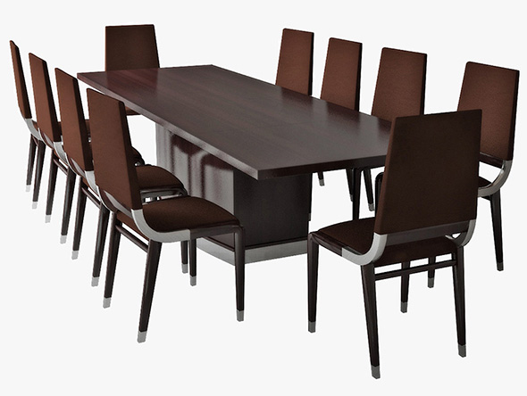 table and chairs - 3DOcean Item for Sale