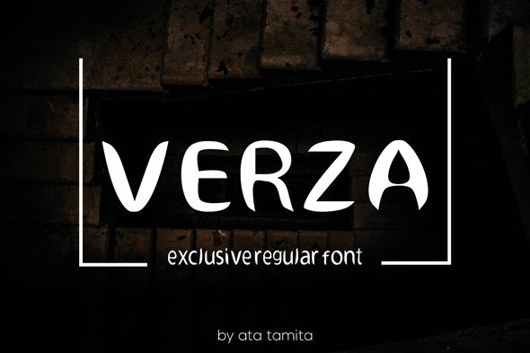verza regular fonts - Fonts