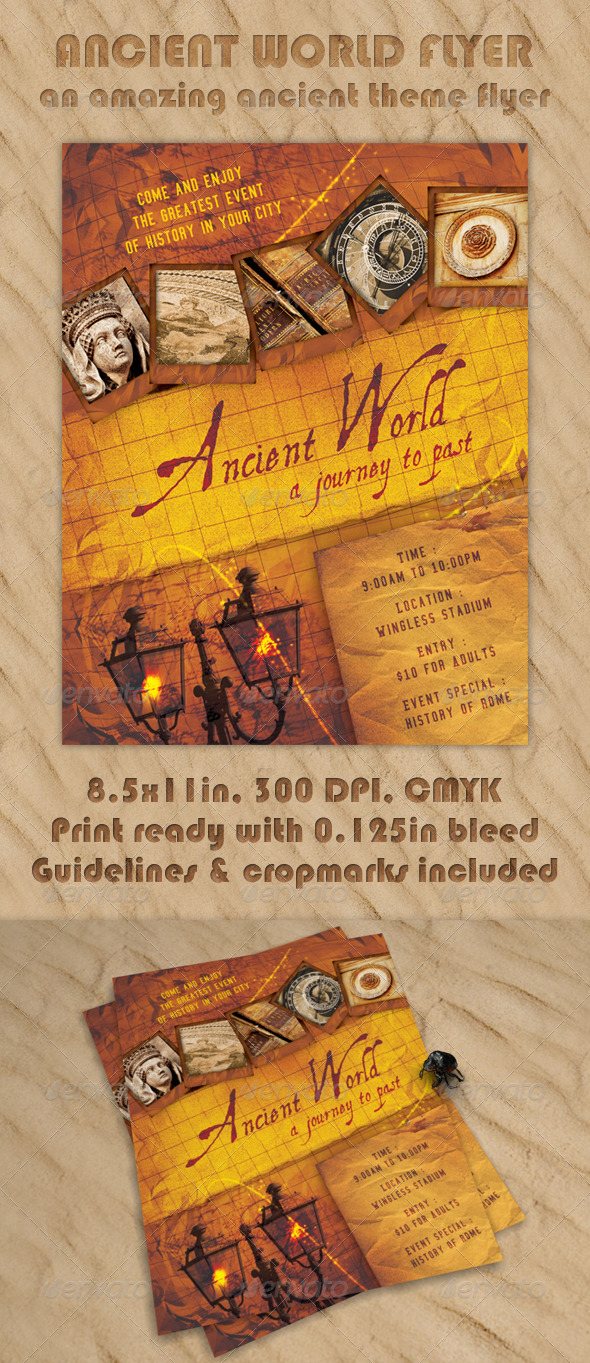 Ancient World Flyer - Clubs & Parties Events